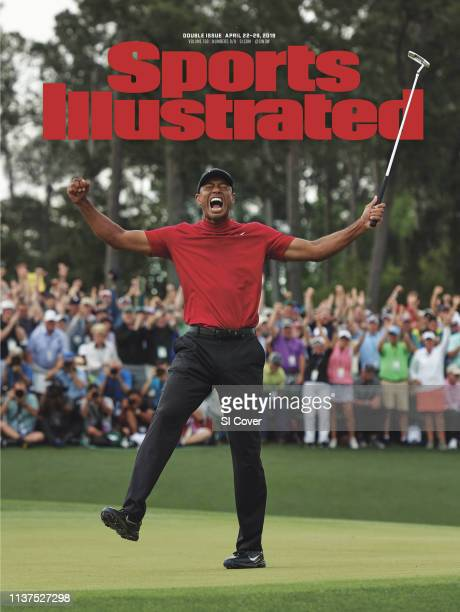 April 22 2019 April 29 2019 Sports Illustrated via Getty Images Cover The Masters Tiger Woods victorious after sinking putt to win tournament on No...
