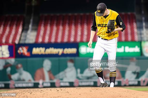 University of Missouri Tigers Pitcher Peter Fairbanks approaches the mound during the NCAA baseball game between the Illinois Fighting Illini and the...