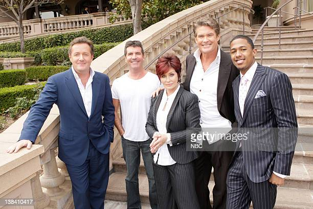 "April 24, 2009 -- ""America's Got Talent"" NBC Session -- Pictured: Piers Morgan, Simon Cowell, Sharon Osbourne, David Hasselhoff, Nick Cannon"