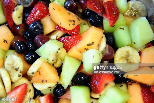 WASHINGTON DC April 24 2012 Fruit SaladDr Thomas Sherman Georgetown University molecular neuroendocrinologist hosts a nutrition potluck for his...