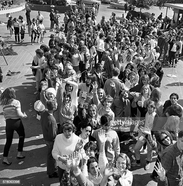 Crowd gathers at the Hollywood Bowl to buy tickets for the Beatles August 23, 1964 performance. The Bowl was one of several locations selling...