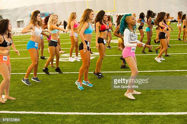 Preliminary and SemiFinal Auditions for the Miami Dolphins Cheerleaders at Doctor's Hospital Training Facility in Davie FL