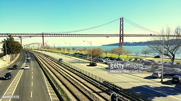 April 25Th Bridge Over Tagus River In City