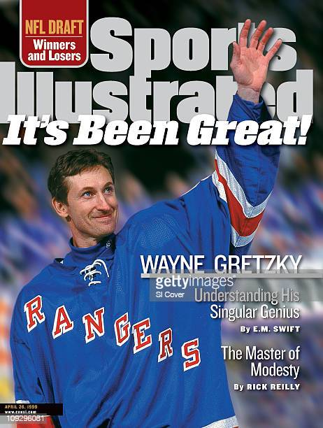 April 26 1999 Sports Illustrated via Getty Images CoverHockey Closeup of New York Rangers Wayne Gretzky after game vs Pittsburgh Penguins at Madison...