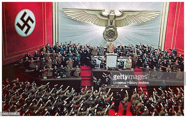 April 28 1939 Hitler makes an address to the reichstag answering Roosevelts appeal to avoid war