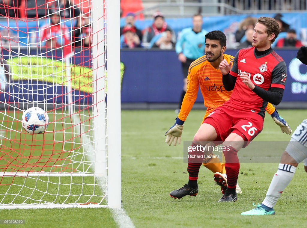 TORONTO, ON - April 28 In first half action, Toronto FC ...