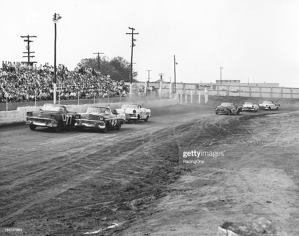 1956 Greensboro NASCAR Convertibles - Action : News Photo