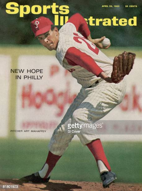 April 29 1963 Sports Illustrated Cover Baseball Philadelphia Phillies Art Mahaffey in action during spring training Clearwater FL 3/31/1963