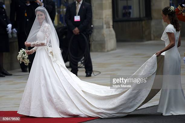 April 29 2011 London England United Kingdom Kate Middleton arrives at Westminster Abbey for her wedding to Prince William Over 1900 guests were...