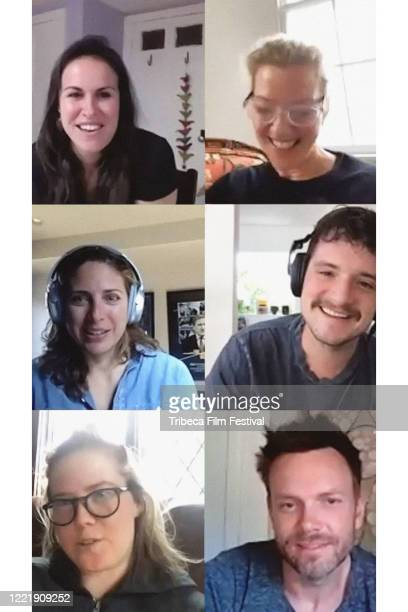 NEW YORK NY – April 29 2020 – Jurors Joel McHale Erin Lee Carr Gretchen Mol Josh Hutcherson and Stacey Reiss announces the winner of the Albert...