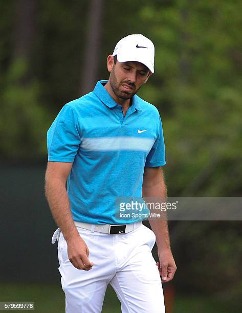 Charl Schwartzel gets angry during the first round of the Houston Shell Open at The Golf Club of Houston in Humble TX
