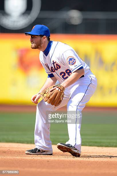 New York Mets second baseman Daniel Murphy during a MLB game between the Washington Nationals and the New York Mets at Citi Field in Flushing New...