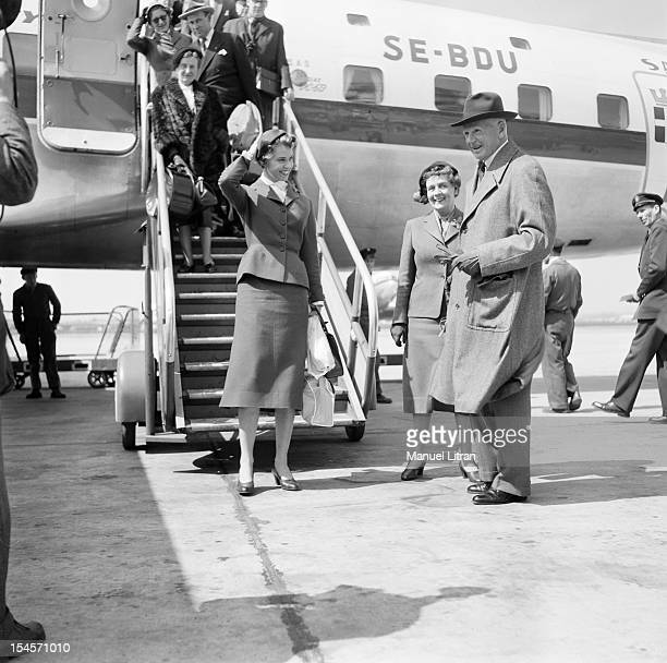 April 30 Princess Margaretha OF SWEDEN is boarding at the Convent of the Assumption in Paris to learn French Margaretha OF SWEDEN at the airport has...