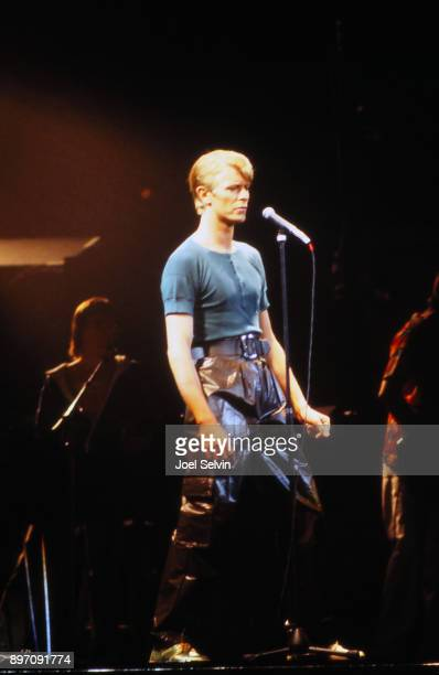 OAKLAND April 5 1978 Rock star David Bowie performs on his Isolar II tour aon April 5 1978 at the Oakland Coliseum Arena in Oakland California