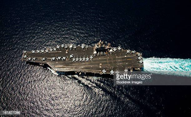 April 5, 2012 - The Nimitz-class aircraft carrier USS Abraham Lincoln (CVN 72) transits the Arabian Sea.