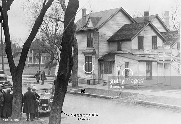 April 6 1934St Paul Minnesota The scene of the shooting in St Paul Minnesota of Eugene Green companion of Dillinger who had escaped a few days...