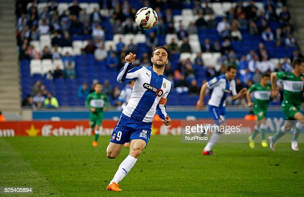 Sergio Garcia in the match between RCD Espanyol and Elche CF for the week 29 of the Liga BBVA played at the Power8 Stadium on april 22 2015 Photo...