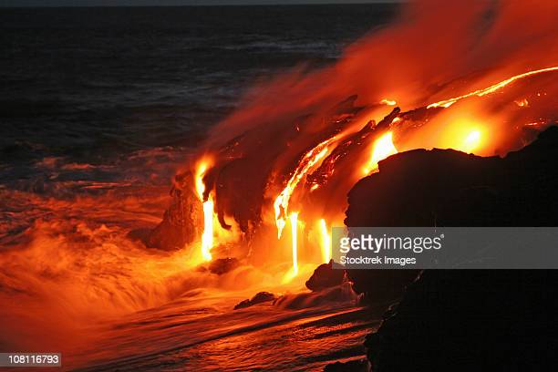 April 7, 2005 - Kilauea lava flow sea entry, Big Island, Hawaii.