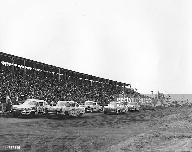 The field gets set for the start of the Wilkes County 160 NASCAR Cup race at North Wilkesboro Speedway Junior Johnson starts from the pole in car No...