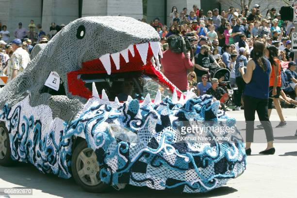 April 8, 2017 -- An art car takes part in the 30th Annual Houston Art Car Parade in Houston, the United States, on April 8, 2017.