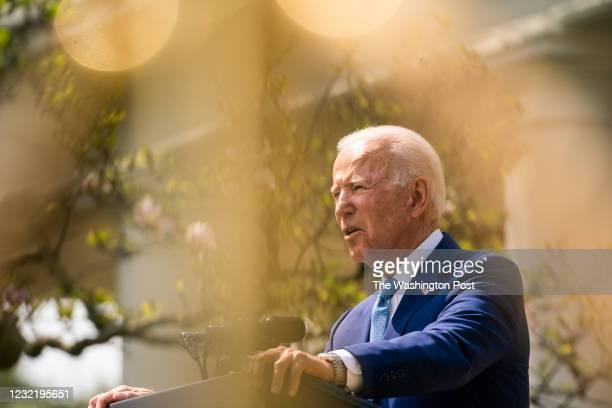 April 8, 2021: President Joe Biden make remarks on gun violence prevention while Vice President Kamala Harris and United States Attorney General...