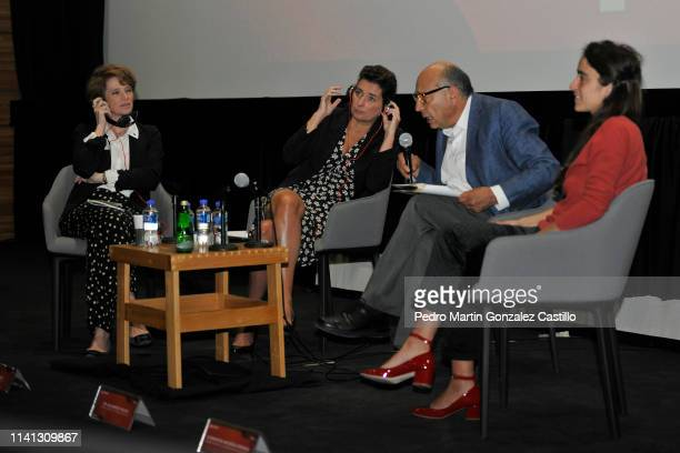 Ariane Toscan du Plantier director of Gaumont Sidonie Dumas Seydoux Alejandro Pelayo Rangel and Clémentine MourãoFerreira attend a press conference...