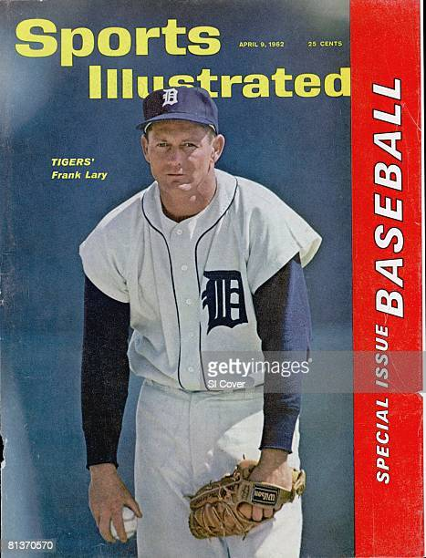 April 9 1962 Sports Illustrated via Getty Images Cover Baseball Detroit Tigers Frank Lary on mound during spring training FL 3/15/1962