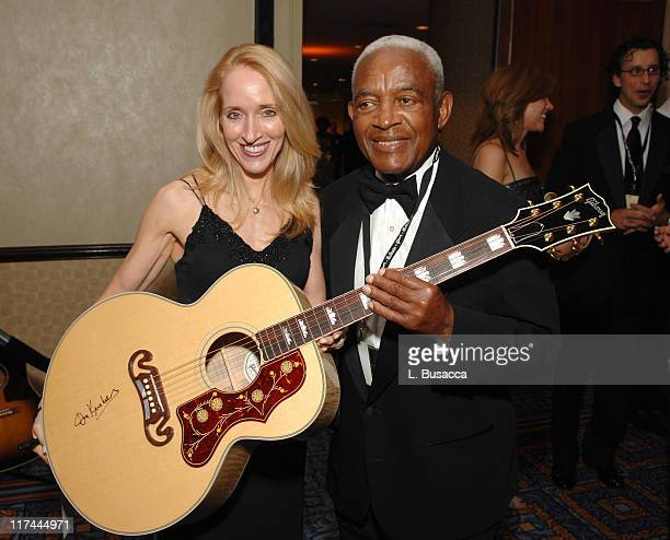 April Anderson and Irving Burgie during 38th Annual Songwriters Hall of Fame Ceremony Cocktails and Backstage at Marriott Marquis in New York City...