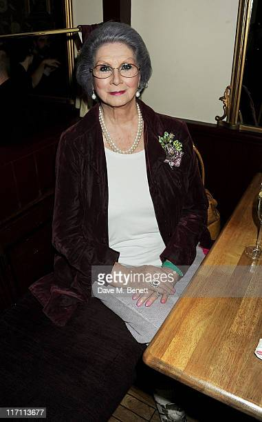 April Ashley attends an after party following press night of Being Shakespeare at Walkers on June 22 2011 in London England