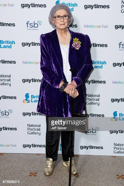 April Ashley attends the Gay Times Honours held at National Portrait Gallery on November 18 2017 in London England