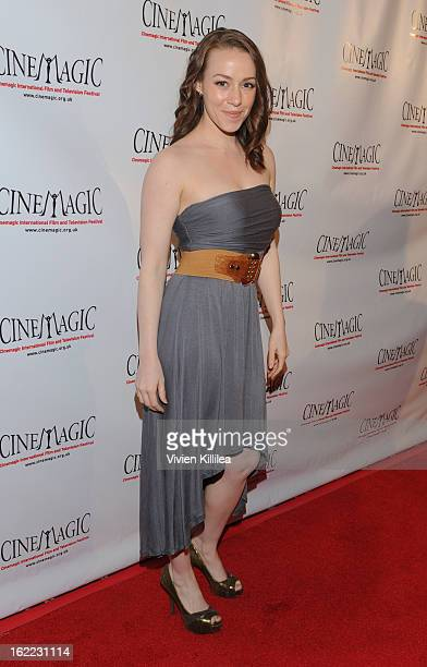April Billingsley attends 4th Annual LA Cinemagic International Film And Television Festival Opening Reception With Guest Of Honor Julian Sands at...