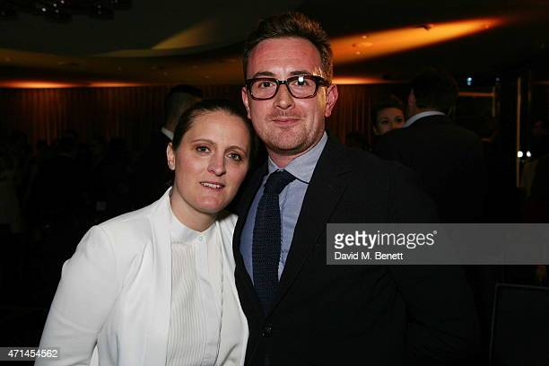 April Bloomfield and Adam Hyman attend the GQ Food Drink Awards at The Bulgari Hotel on April 28 2015 in London England