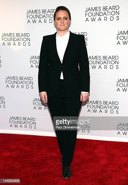 April Bloomfield attends the 2012 James Beard Foundation Awards at Avery Fisher Hall at Lincoln Center for the Performing Arts on May 7 2012 in New...