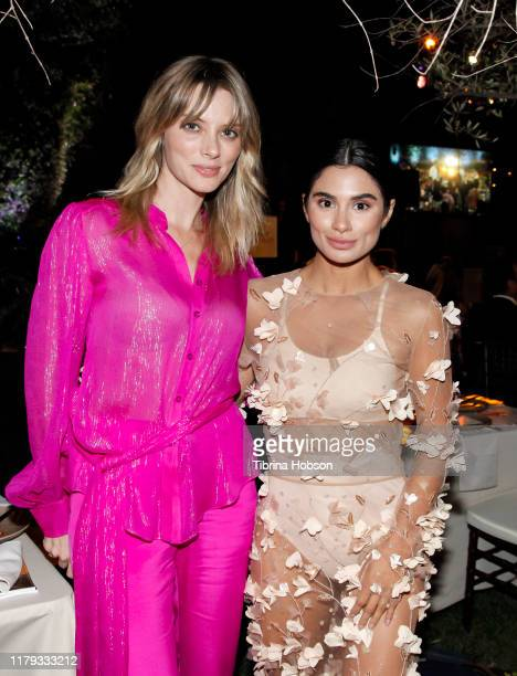 April Bowlby and Diane Guerrero attend the Family Equality Los Angeles Impact Awards 2019 at a Private Residence on October 05 2019 in Los Angeles...