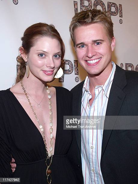 April Bowlby and Randy Wayne during 2006 iPOP Awards Backstage at Century Plaza Hotel Hotel in Century City California United States