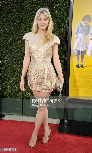 April Bowlby arrives at 'The Help' World Premiere at the Samuel Goldwyn Theater on August 9 2011 in Beverly Hills California