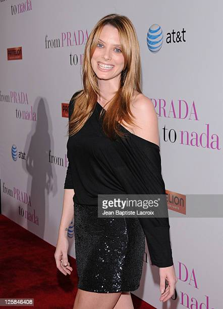 April Bowlby attends the premiere of 'From Prada To Nada' held at Regal Cinemas LA Live on January 18 2011 in Los Angeles California