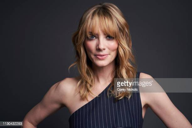 April Bowlby of DC Universe's 'Doom Patrol' poses for a portrait during the 2019 Winter TCA at The Langham Huntington Pasadena on February 9 2019 in...