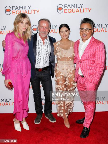 April Bowlby Stan Sloan and Alec Mapa attend the Family Equality Los Angeles Impact Awards 2019 at a Private Residence on October 05 2019 in Los...