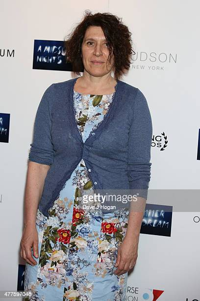 April de Angelis attends the UK Premiere of Julie Taymor's 'A Midsummer Night's Dream' at The Curzon Mayfair on June 18 2015 in London England