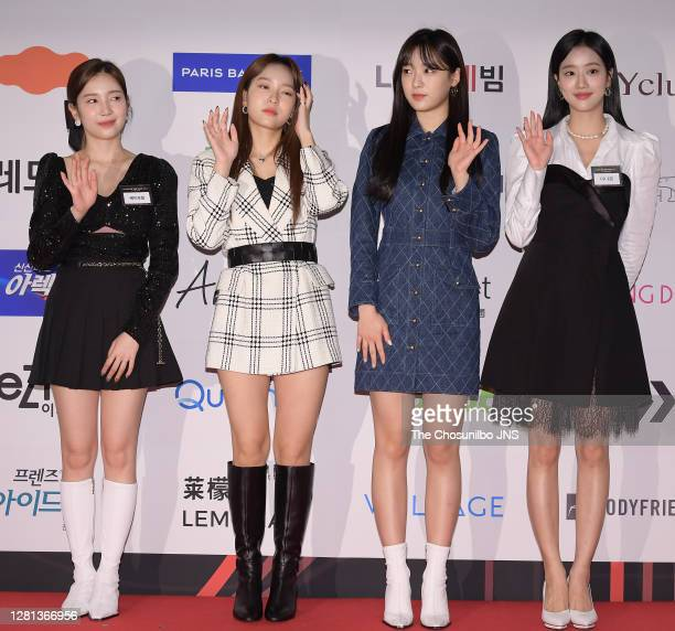 April during the photo call of KC Forum's Korean Brand Award 2020 at The Shilla Seoul on October 12, 2020 in Seoul, South Korea.