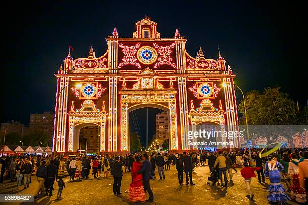 april fair in seville - seville stock pictures, royalty-free photos & images