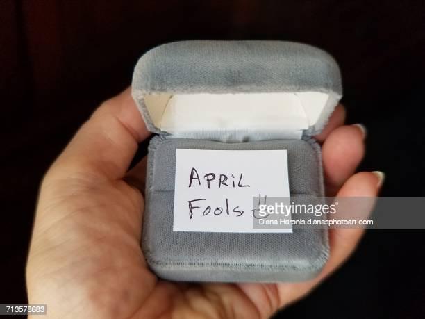 april fool's day! - aprilscherz stock-fotos und bilder