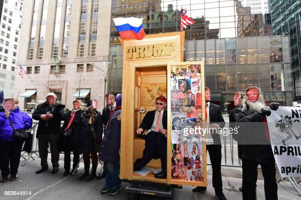 April Fool's Day was celebrated in part by pranksters parading around an effigy of President Trump along Fifth Avenue in front of Trump Tower Those...