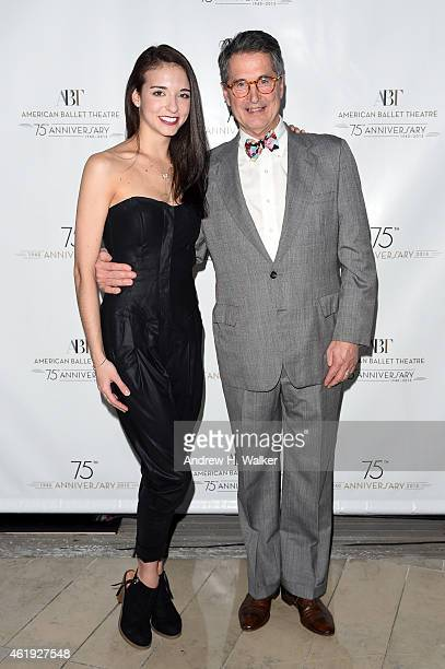 April Giangeruso and Jeff Riley attends American Ballet Theatre's 75th Anniversary Celebration at Alice Tully Hall Lincoln Center on January 21 2015...