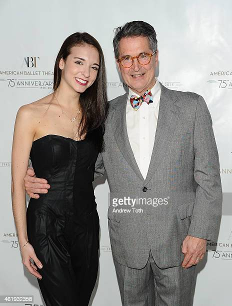 April Giangeruso and Jeff Riley atttend American Ballet Theatre's 75th Anniversary Celebration at Alice Tully Hall Lincoln Center on January 21 2015...