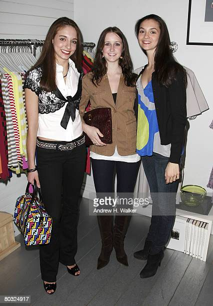 April Giangeruso Kaia Annika and Jamie Hickey attend the American Ballet Theatre Junior Council Event at the Charles Nolan Store March 19 2008 in New...