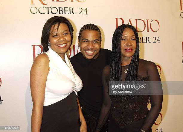 April Gooding Omar Gooding and Shirley Gooding during Radio Premiere Red Carpet at Academy of Motion Pictures Arts and Sciences in Beverly Hills...