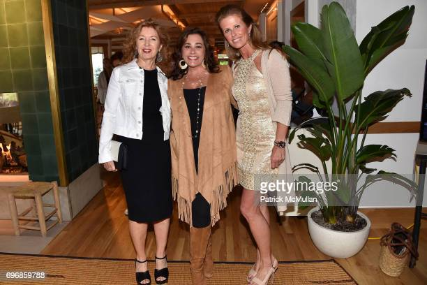 April Gornick Karime Bakhoum and Alex Lerner attend Cocktails to Learn About The Sag Harbor Cinema Project at Le Bilboquet on June 16 2017 in Sag...