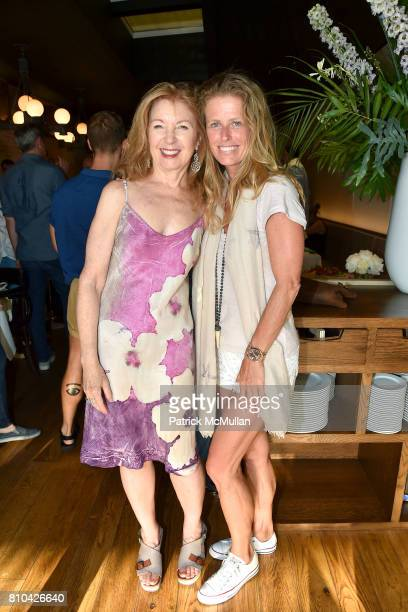 April Gornik and Alex Lerner attend eBay Hosts July 4th Benefit for Sag Harbor Cinema Restoration Project at Lulu Kitchen and Bar on July 3 2017 in...